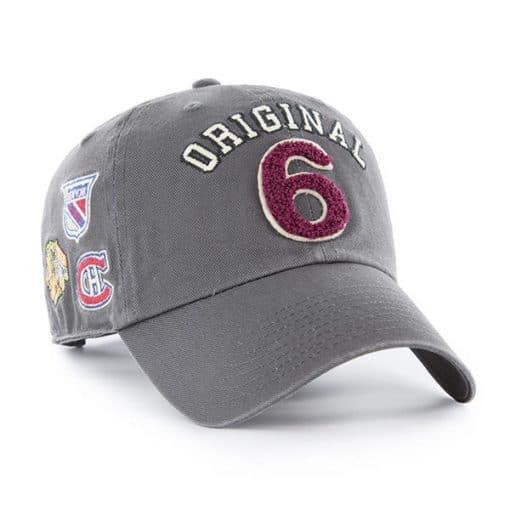Original Six 47 Brand Gray Clean Up Adjustable Hat