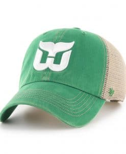 Hartford Whalers 47 Brand Trawler Vintage Green Clean Up Adjustable Hat
