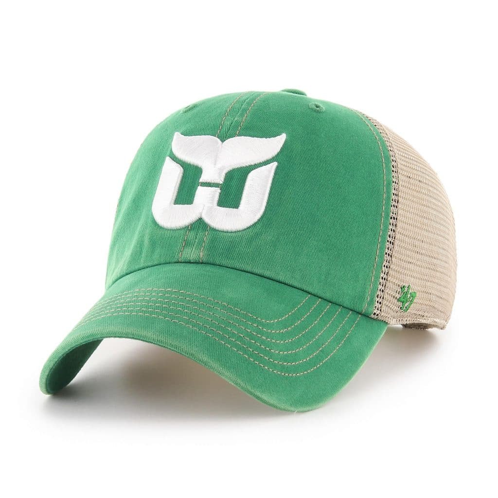 Hartford Whalers 47 Brand Trawler Vintage Green Clean Up Adjustable Hat -  Detroit Game Gear 095d9ed95add