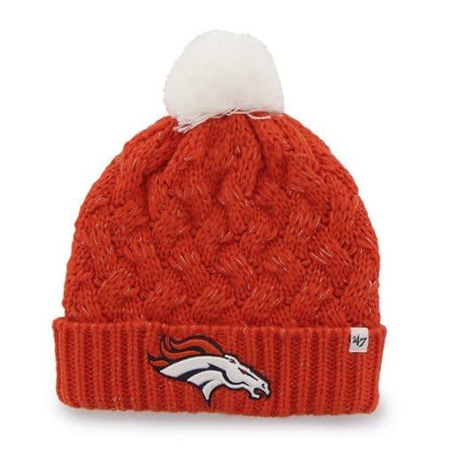 Denver Broncos 47 Brand Orange Fiona Cuff Knit Women's Hat