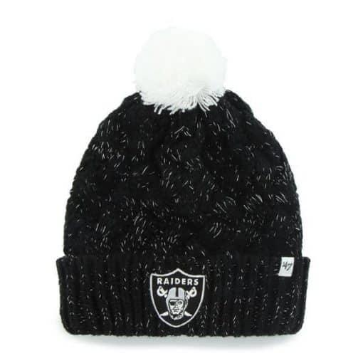 Oakland Raiders 47 Brand Women's Black Fiona Cuff Knit Hat