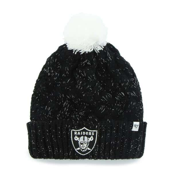 Oakland Raiders 47 Brand Women s Black Fiona Cuff Knit Hat - Detroit ... 02147f0551