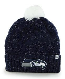 Seattle Seahawks 47 Brand Women's Light Navy Fiona Cuff Knit Hat