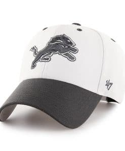 Detroit Lions 47 Brand White Audible Two Tone Adjustable Hat