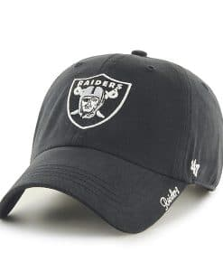 Oakland Raiders 47 Brand Women's Black Miata Clean Up Hat