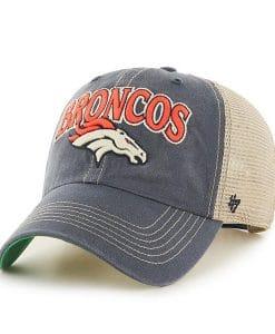 Denver Broncos 47 Brand Tuscaloosa Clean Up Vintage Navy Adjustable Hat