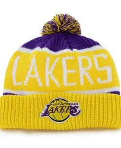 Los Angeles Lakers 47 Brand Calgary Cuff Knit Purple Hat