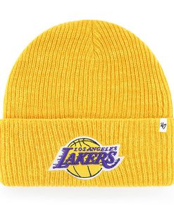 Los Angeles Lakers 47 Brand Yellow Brain Freeze Cuff Knit Hat