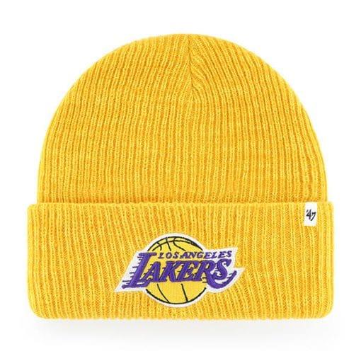 Los Angeles Lakers 47 Brand Yellow Brain Freeze Cuff Knit Hat