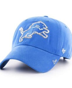 Detroit Lions 47 Brand Women's Blue Raz Sparkle Adjustable Hat