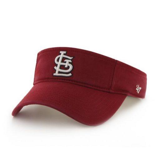 St. Louis Cardinals 47 Brand Red Clean Up Visor Adjustable Hat