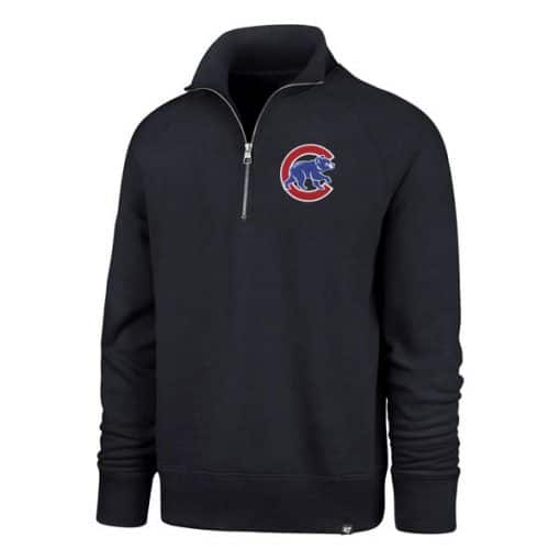 Chicago Cubs 47 Brand Men's Navy 1/4 Zip Pullover