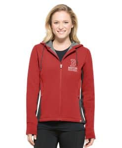 Boston Red Sox Women's 47 Brand Red Compete Full Zip Hoodie