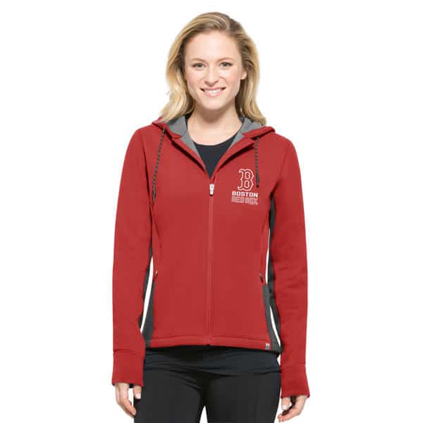 size 40 d7c30 f9a72 Boston Red Sox Women's MEDIUM 47 Brand Red Compete Full Zip Hoodie