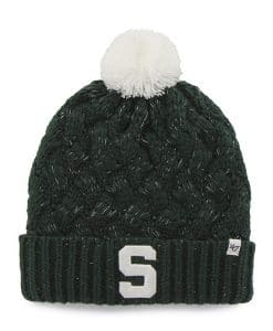 Michigan State Spartans Women's 47 Brand Dark Green Fiona Cuff Knit Hat