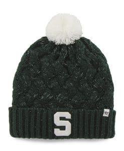 Michigan State Spartans Women's 47 Brand Dark Green Fiona Cuff Knit Hat