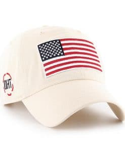 a0e000c5c42 Operation Hat Trick Clean Up W  Side Embroidery Natural 47 Brand Adjustable  USA Flag Hat