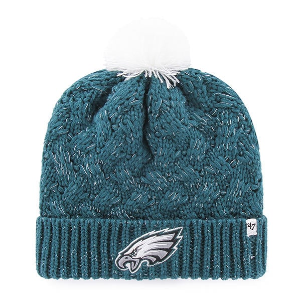 more photos 3df44 2c398 Philadelphia Eagles INFANT / TODDLER 47 Brand Green Fiona Cuff Knit Hat