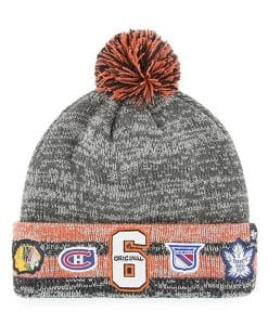 Original Six 47 Brand Gray Henrick Cuff Knit Hat