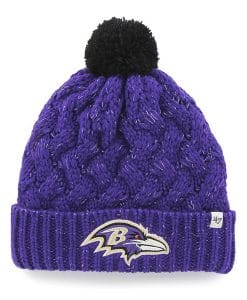Baltimore Ravens Women's 47 Brand Purple Fiona Cuff Knit Hat