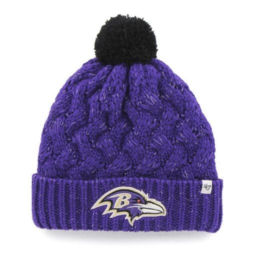 Baltimore Ravens Women's 47 Brand Purple Fiona Cuff Knit Hat