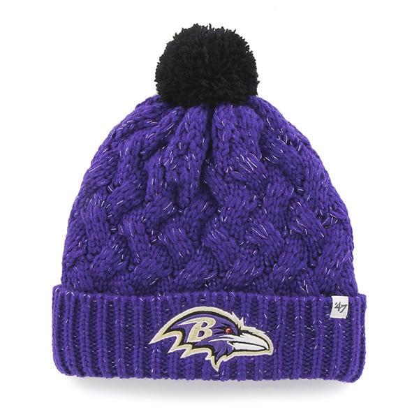 c19479cb Baltimore Ravens Women's 47 Brand Purple Fiona Cuff Knit Hat