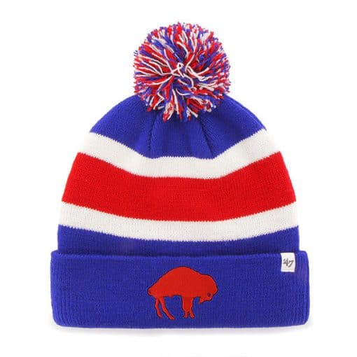 Buffalo Bills 47 Brand Sonic Blue Breakaway Cuff Knit Hat