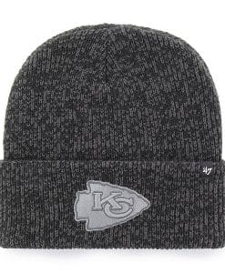 Kansas City Chiefs 47 Brand Black Brain Freeze Cuff Knit Hat