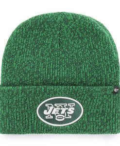 New York Jets Brain Freeze Cuff Knit Green 47 Brand Hat