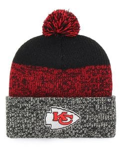 Kansas City Chiefs 47 Brand Black Static Cuff Knit Hat