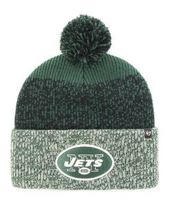 New York Jets 47 Brand Green Static Cuff Knit Hat
