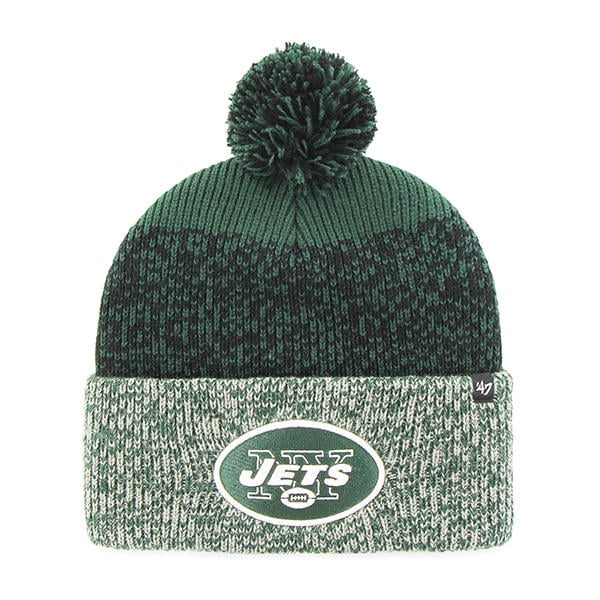 9599f1939c707 New York Jets 47 Brand Green Static Cuff Knit Hat - Detroit Game Gear