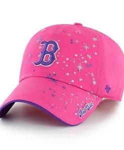 Boston Red Sox KIDS 47 Brand Bright Pink Girls Adjustable Hat