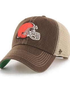 Cleveland Browns 47 Brand Trawler Brown Clean Up Adjustable Hat