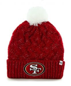 San Francisco 49ers Women's 47 Brand Red Fiona Cuff Knit Hat