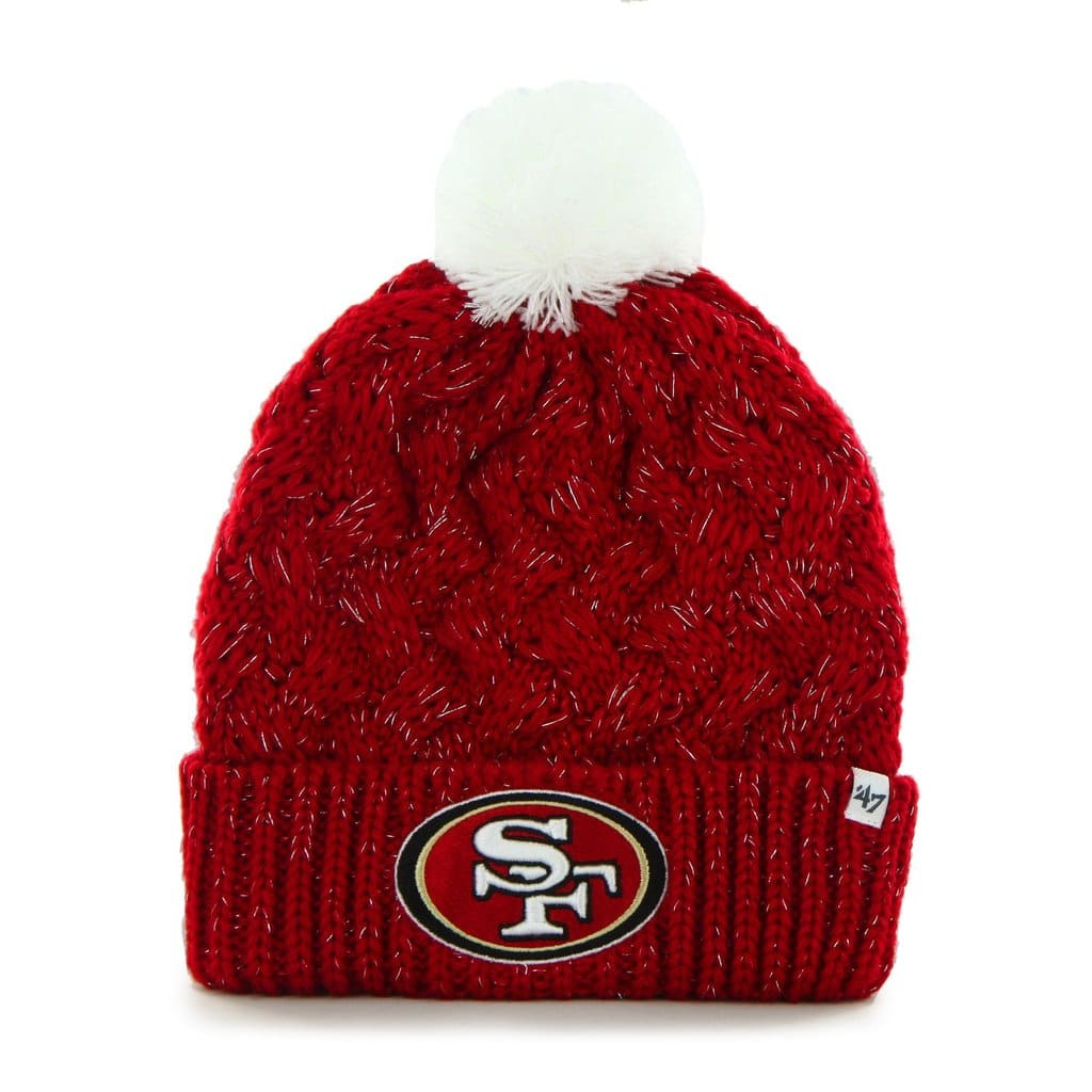 new product eae25 03246 San Francisco 49ers Women s 47 Brand Red Fiona Cuff Knit Hat