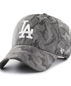 Los Angeles Dodgers 47 Brand Gray Camo Smokelin Adjustable Hat