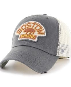 Boston Bruins 47 Brand Charcoal Classic Stretch Fit Hat