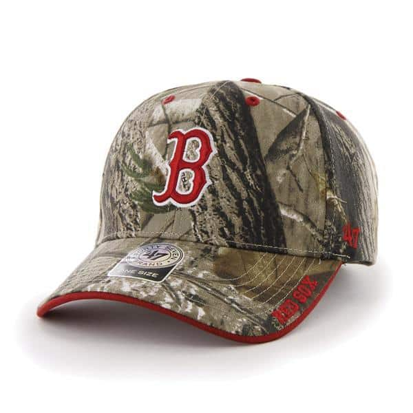 0e09f170b263d Boston Red Sox 47 Brand Realtree Camo Frost Clean Up Adjustable Hat -  Detroit Game Gear