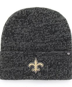 New Orleans Saints 47 Brand Black Brain Freeze Cuff Knit Hat