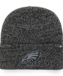 Philadelphia Eagles 47 Brand Black Brain Freeze Cuff Knit Hat
