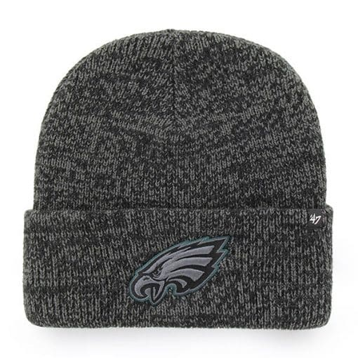 Philadelphia Eagles 47 Brand Black Brain Freeze Cuff Knit Hat