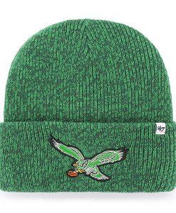 54748d8c83b2d Philadelphia Eagles 47 Brand Green Legacy Brain Freeze Cuff Knit Hat