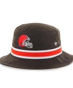 Cleveland Browns 47 Brand Striped Bucket Brown Hat