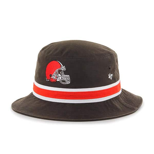 889f991a4 Cleveland Browns 47 Brand Striped Bucket Brown Hat - Detroit Game ...
