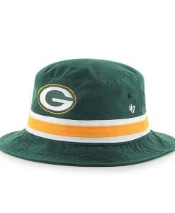 Green Bay Packers 47 Brand Striped Bucket Green Hat