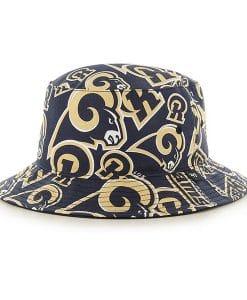 Los Angeles Rams 47 Brand Navy Bravado Bucket Hat
