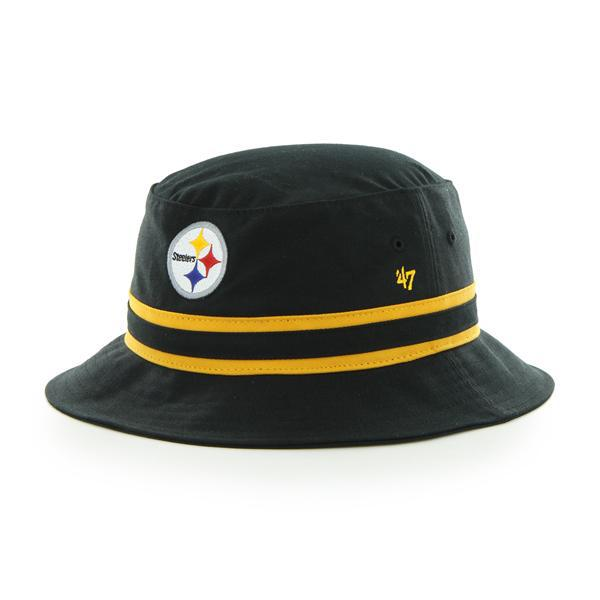 Pittsburgh Steelers 47 Brand Striped Bucket Black Hat - Detroit Game Gear a43dc6157