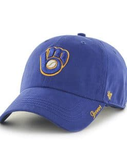 Milwaukee Brewers Women's 47 Brand Blue Miata Clean Up Hat