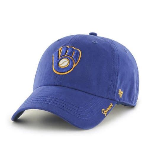 Milwaukee Brewers Women's 47 Brand Blue Miata Clean Up Hat